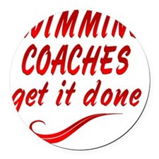 Swimming Coaches Round Car Magnet