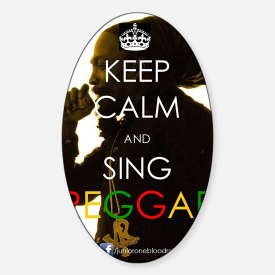 Keep Calm and Sing Sticker (Oval)