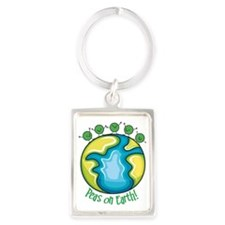 Peas on Earth Portrait Keychain
