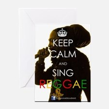 Keep Calm and Sing Greeting Card