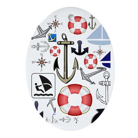 Nautical Fun Oval Ornament