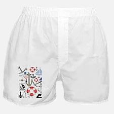 Nautical Fun Boxer Shorts
