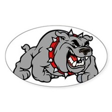 grey bulldog Decal