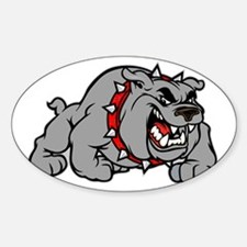 grey bulldog Decal