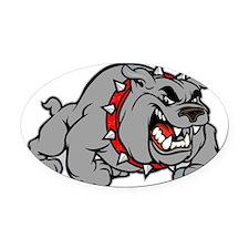 grey bulldog Oval Car Magnet