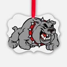grey bulldog Ornament