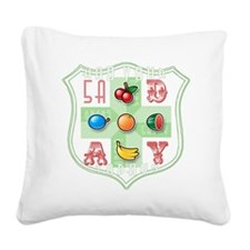 5 A Day Square Canvas Pillow