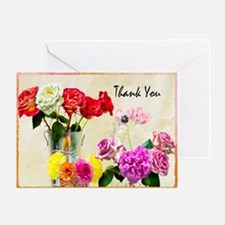 Thank You Flowers In Vase Greeting Card