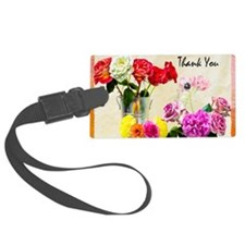 Thank You Flowers In Vase Luggage Tag