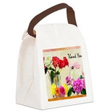 Thank You Flowers In Vase Canvas Lunch Bag