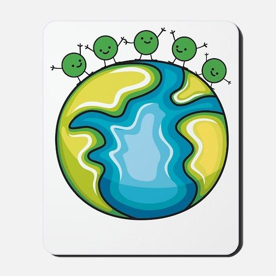 Peas on Earth (dark) Mousepad