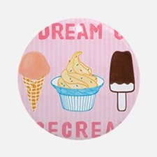 Icecream Dream Round Ornament