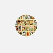 Art Nouveau Advertisements Collage Mini Button