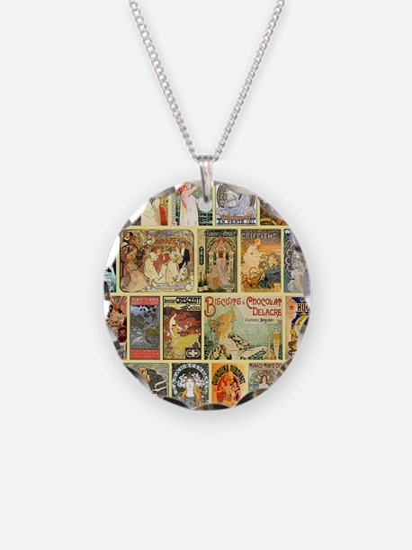 Art Nouveau Advertisements C Necklace