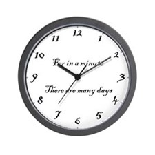"The ""in a minute"" Wall Clock"