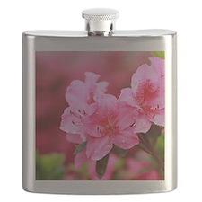Pink azaleas Flask