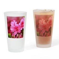 Pink azaleas Drinking Glass