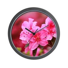 Pink azaleas Wall Clock