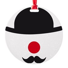 hat, red nose and mustache, clown f Ornament