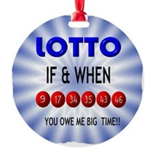 winning lotto numbers Ornament