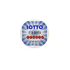 winning lotto numbers Mini Button