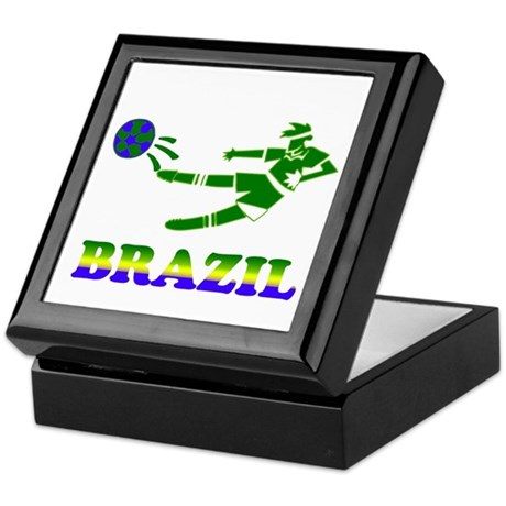 Brazil Soccer Player Keepsake Box