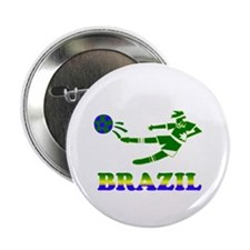 "Brazil Soccer Player 2.25"" Button (100 pack)"