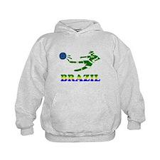 Brazil Soccer Player Hoodie