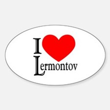 I Love Lermontov Oval Decal