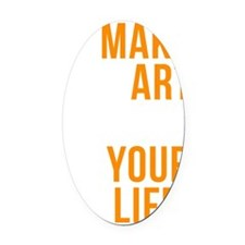 Smart quote Oval Car Magnet