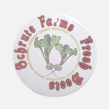 Schrute Farms Fresh Beets Round Ornament