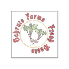 """Schrute Farms Fresh Beets Square Sticker 3"""" x 3"""""""