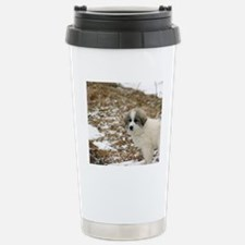 Great Pyrenees Puppy Stainless Steel Travel Mug