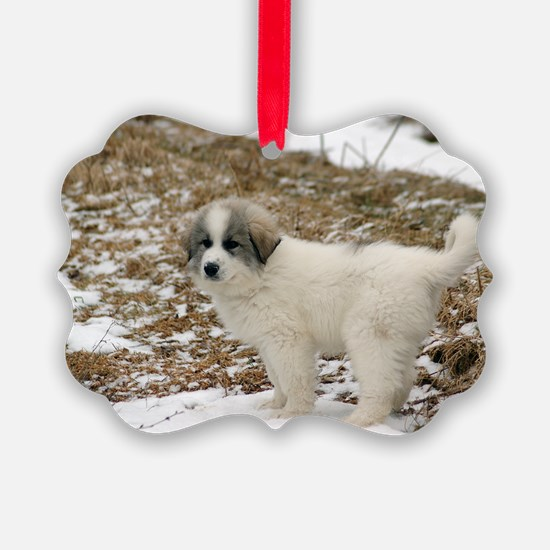 Great Pyrenees Puppy Ornament