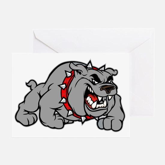 grey bulldog Greeting Card
