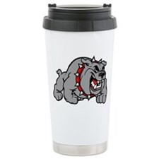 grey bulldog Travel Mug