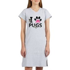 I Love Pugs Women's Nightshirt