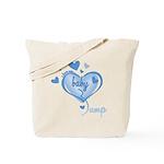 I Love My Bump Blue Tote Bag