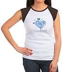 I Love My Bump Blue Women's Cap Sleeve T-Shirt