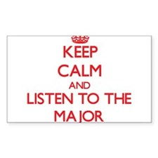 Keep Calm and Listen to the Major Decal
