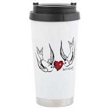 Zombie Swallow Lovebird Travel Mug
