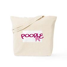 """Poodle """"Pink"""" Tote Bag"""