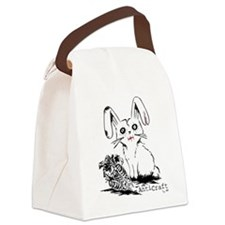 Zombie Bunny Rabbit with Skeleton Canvas Lunch Bag