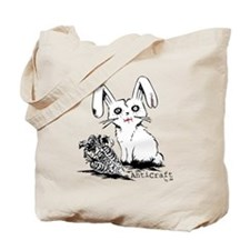 Zombie Bunny Rabbit with Skeleton Carrots Tote Bag
