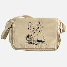 Zombie Bunny Rabbit with Skeleton Ca Messenger Bag