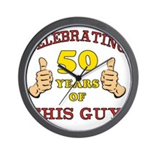 50th Birthday Gift For Him Wall Clock