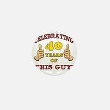40th Birthday Gift For Him Mini Button