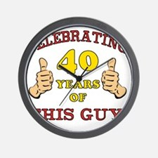 40th Birthday Gift For Him Wall Clock