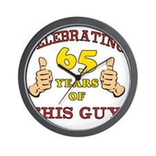 65th Birthday Gift For Him Wall Clock