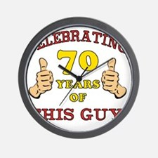 70th Birthday Gift For Him Wall Clock